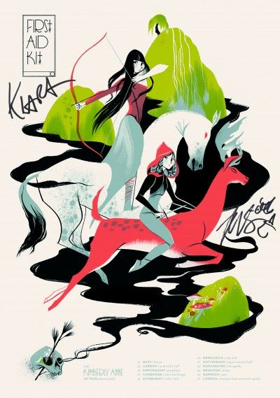 First Aid Kit / tour posters by Anne Benjamin