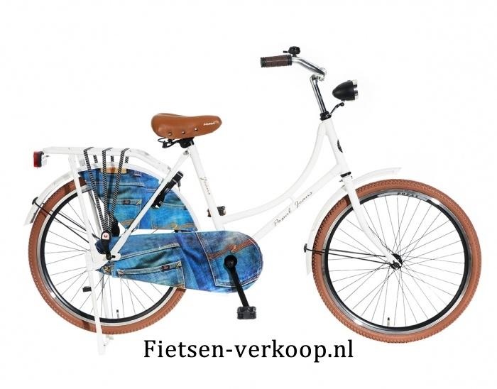 Omafiets Jeans Wit 24 Inch | bestel gemakkelijk online op Fietsen-verkoop.nl