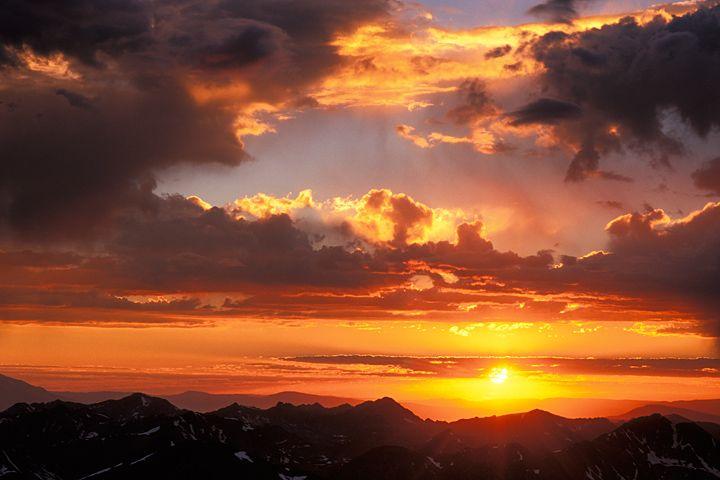 Mount Elbert Image - Sunset, Colorado Mountain