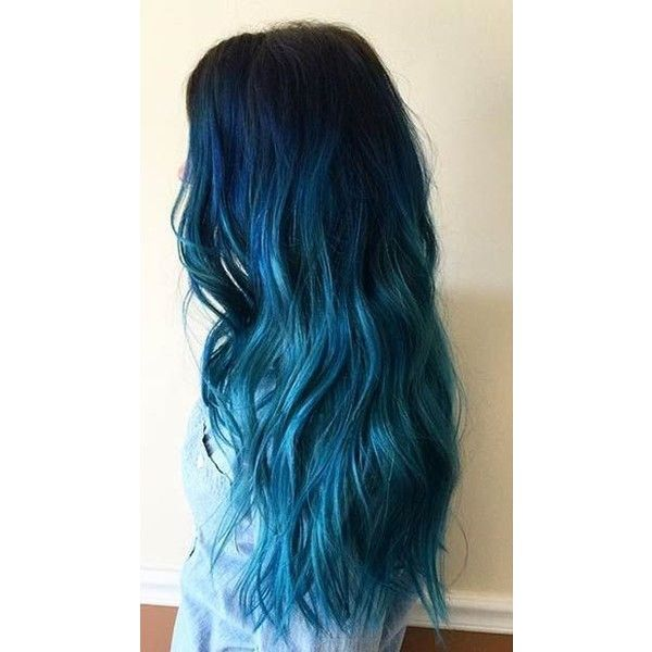 29 Blue Hair Color Ideas for Daring Women ❤ liked on Polyvore featuring hair