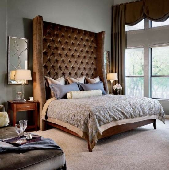 11 best images about big headboard beds on pinterest for Large headboard ideas