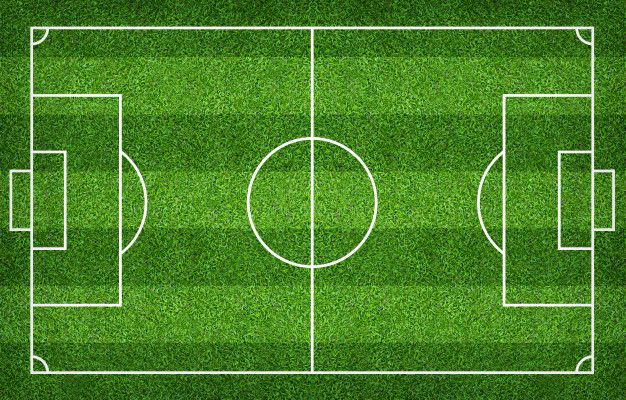 Football Field Or Soccer Field For Background Green Lawn Court For Create Game In 2020 Football Field Soccer Field Soccer
