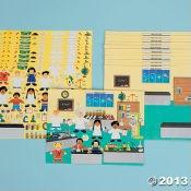 $5.00 12 DIY Super Science! Lab Sticker Scenes Oriential Trading Company