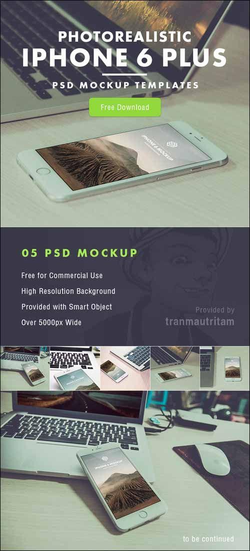 iPhone 6 Plus PSD Mockup Templates