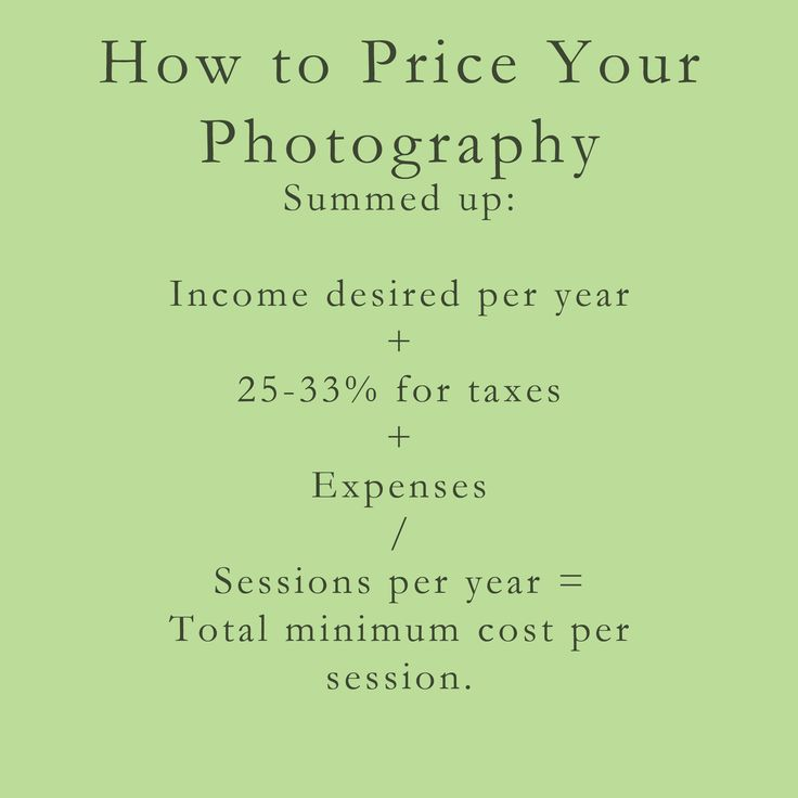 How to Price Your Photography..ya know, just in case I get good enough in the future ;)