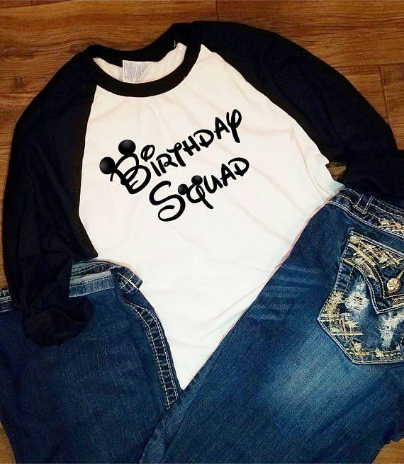 Disney Minnie Mickey Birthday Squad Matching Family World