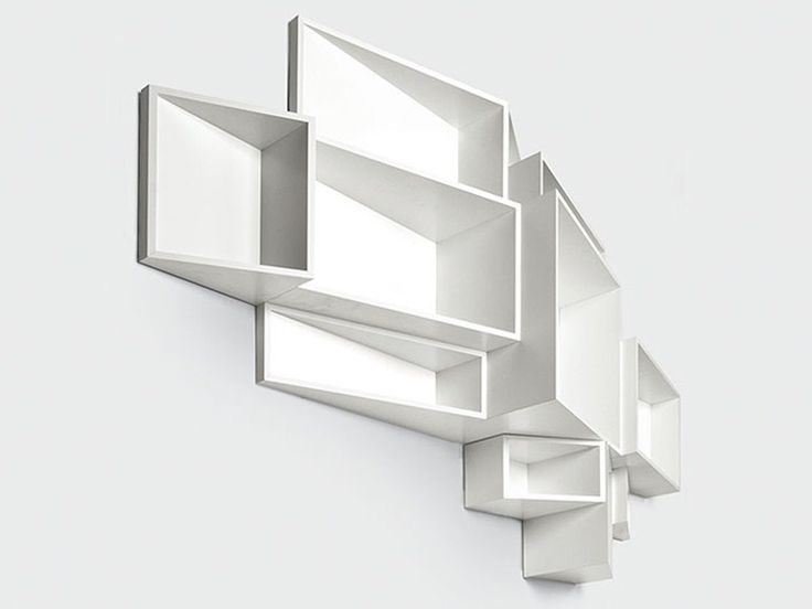 Wall-mounted MDF bookcase SheLLf by Kristalia | design Ka-Lai Chan