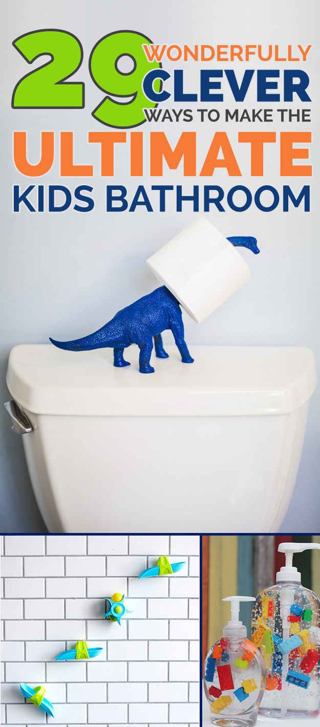 29 Ways To Design Your Kid's Dream Bathroom I wouldn't mind having these in my bathroom, really.