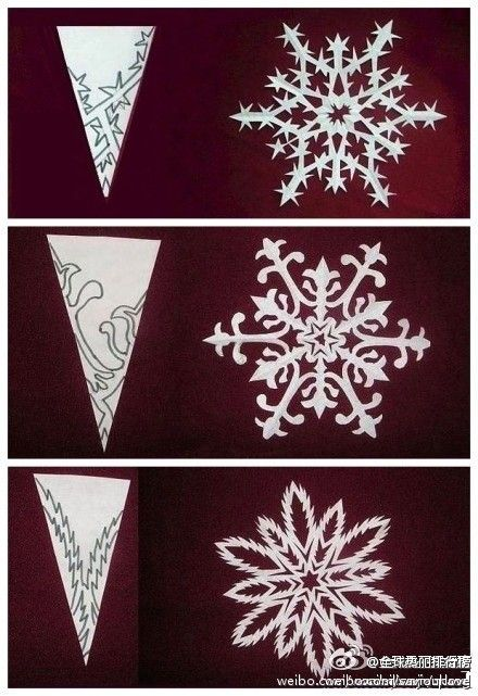 Fayette Woman celebrates Paper Snow Day on Dec 27th. Christmas snowflake paper cutting