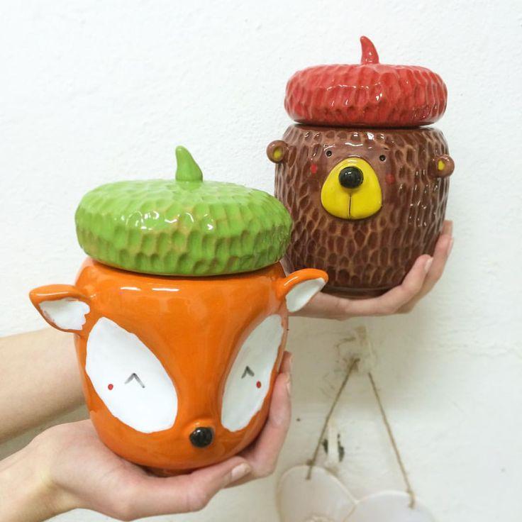 Какие новые малыши получились))) просто волшебные))) это банки для чая, кофе, сахарницы или вазочки) #moonceramic