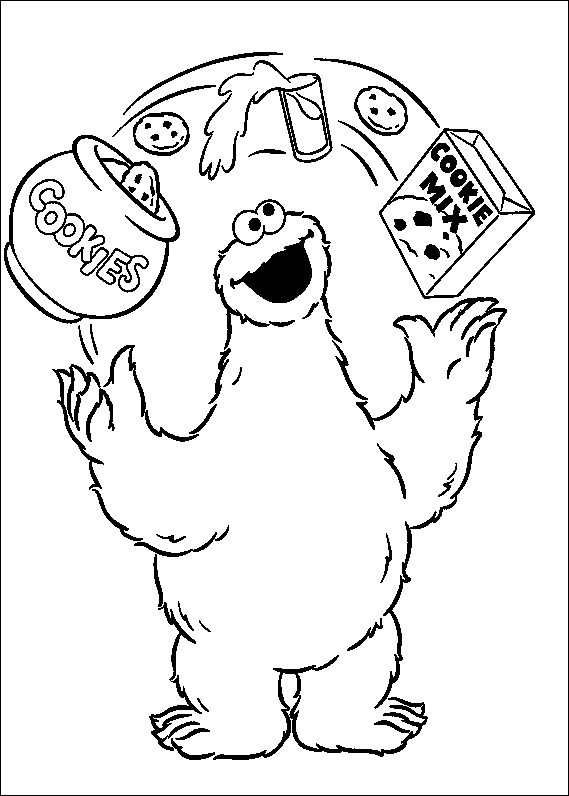 67 best sesame street coloring pages images on pinterest | sesame ... - Monsters Coloring Pages Printable