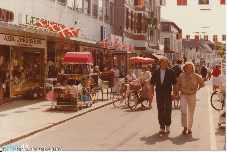 arkiv.dk   Gågade Danmarksgade i Frederikshavn 1985