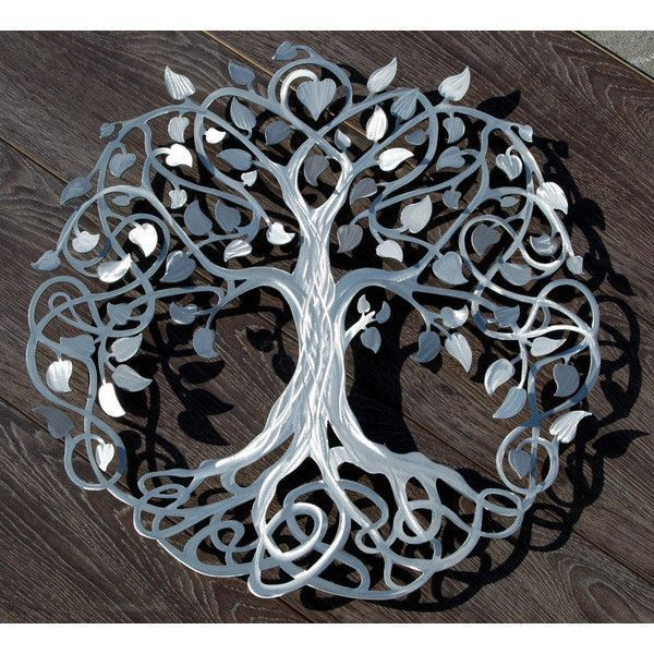 Infinity Tree Of Life Wall Decor Metal Tree Art ($214) ❤ Liked On Polyvore  Featuring Home, Home Decor, Wall Art, Dark Olive, Home U0026 Living, Home  Décor, ...