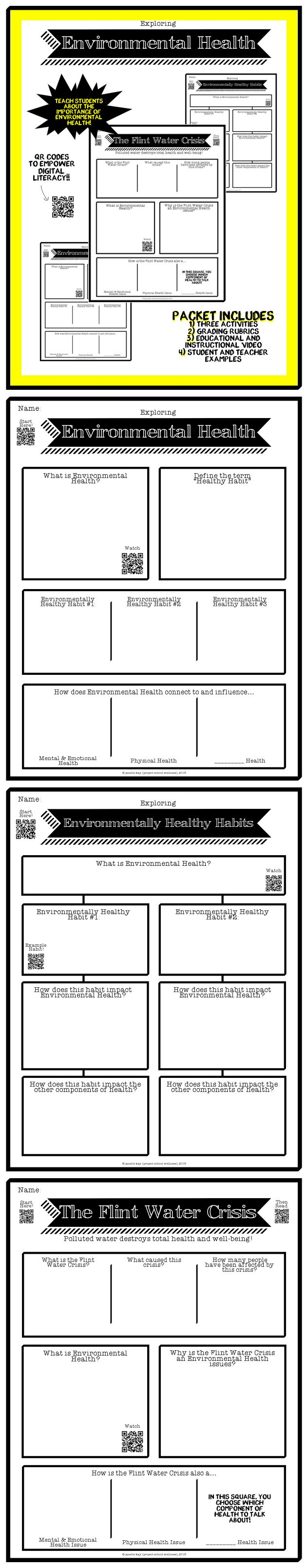 Earth Day Lesson Plans, Environmental Health, Health Lesson Plans, Freebie, TPT, Middle School