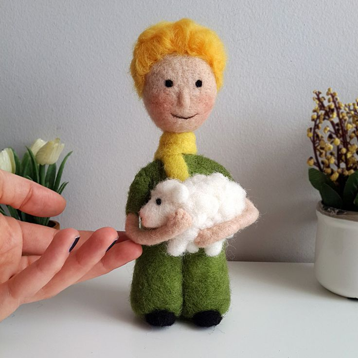 Handmade Little Prince wool doll   #ooak #handmade #custom #order #artdoll #dollart #art #wool