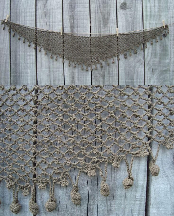 Crochet Shawlette from a Japanese pattern