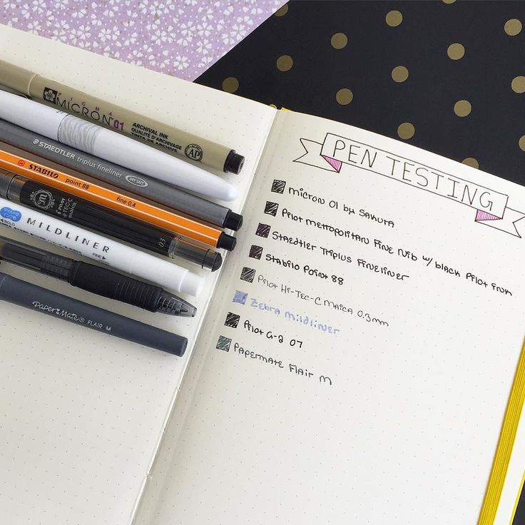 I finally got around to photographing and blogging about testing pens in my Leuchtturm bullet journal. One of my biggest pet peeves is pens that bleed through the page, so this was one of the first pages I made in my BuJo. If you're interested in what I discovered, there's a clickable link in my profile! #leuchtturm1917 #bulletjournal #planner #pens #stationery  http://ohayobento.com/2016/03/18/the-obligatory-pen-test/