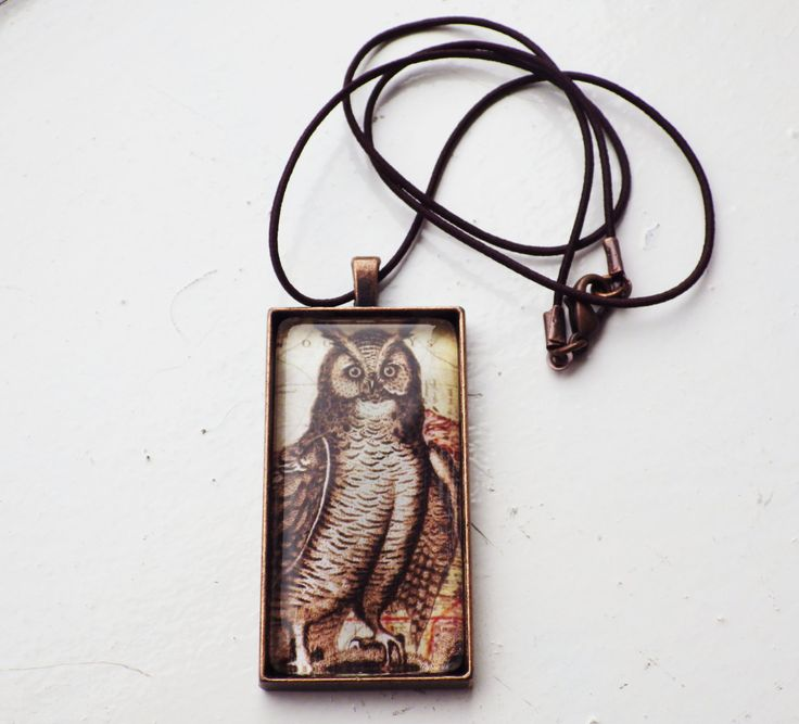 Owl Pendant by studioCworkshop on Etsy