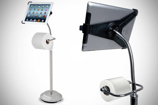 The iPad Commode Caddy w Toilet Paper Roll Holder Maybe it just me? NOWay!! -> Kitea Commode