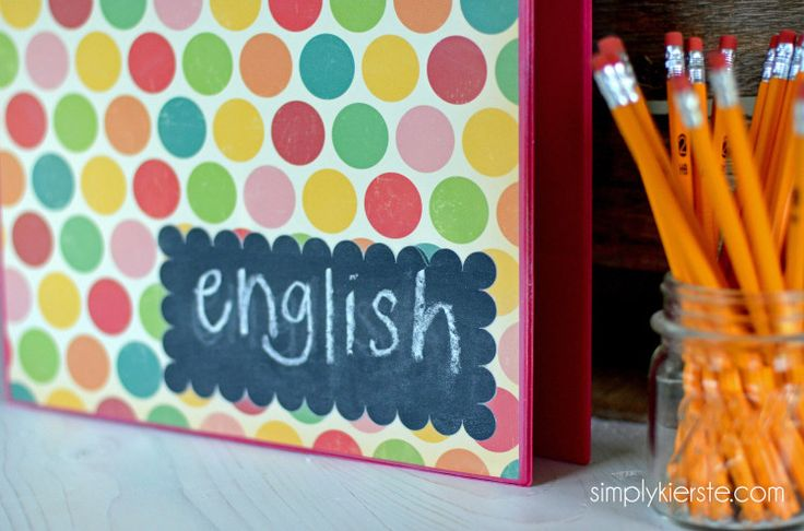 chalkboard binder labels | simplykierste.com