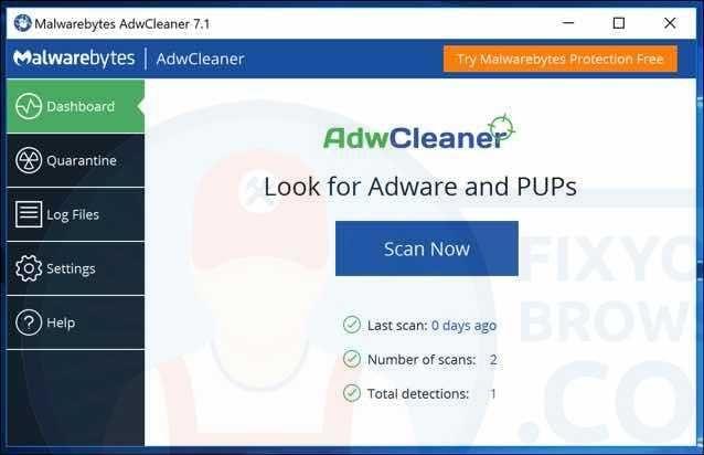 Malwarebytes AdwCleaner is a free malware removal tool for Microsoft