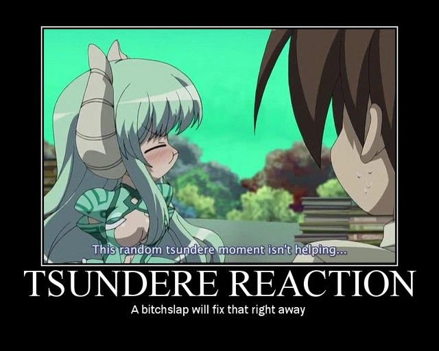 Anime Characters React Fanfiction : Anime tsundere meme girl