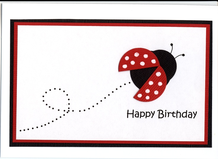 89 best children birthday cards images on pinterest for kids simple cute lady bird birthday card for child bookmarktalkfo Images