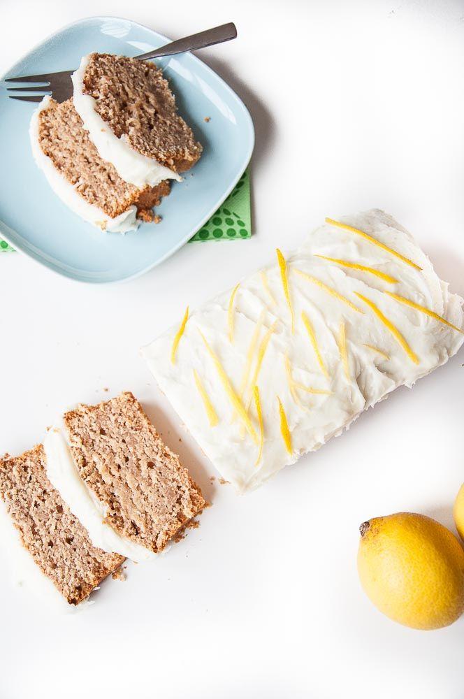 Lemon Loaf Cake Recipe with Lemon Coconut Oil Frosting | VeganFamilyRecipes.com | #vegan #dairy free #dessert #vegetarian