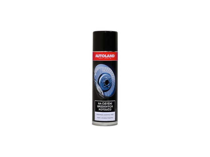 Přípravek na čištění brzdových kotoučů, odstraňuje usazeniny oleje, mastnoty a brzdného prachu či jiných nečistot.