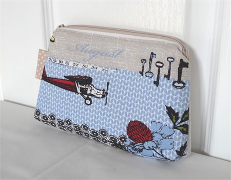 August Months of the Year Zippered Pouch