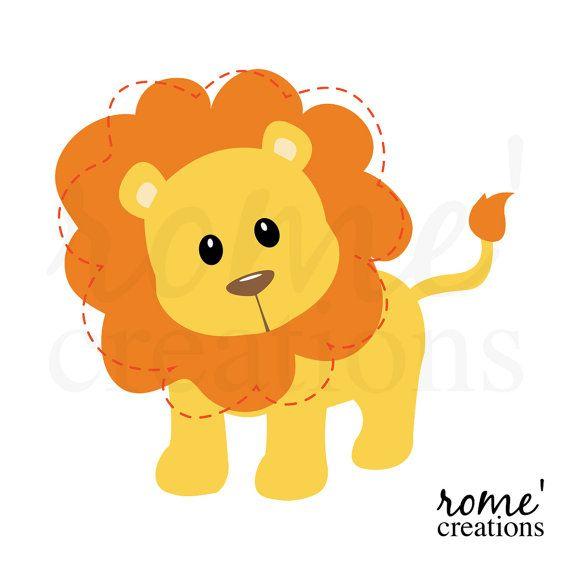 Lion Clip Art Lion Clipart Jungle Animal Clipart por RomeCreations