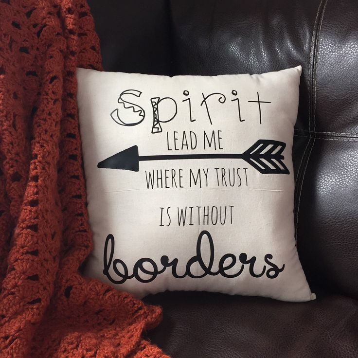 "Oceans By Hillsong Quote Pillow Sham ""Spirit Lead Me Where My Trust is Without Waters"" Pillow by StichXStichCreations on Etsy https://www.etsy.com/listing/231870277/oceans-by-hillsong-quote-pillow-sham"