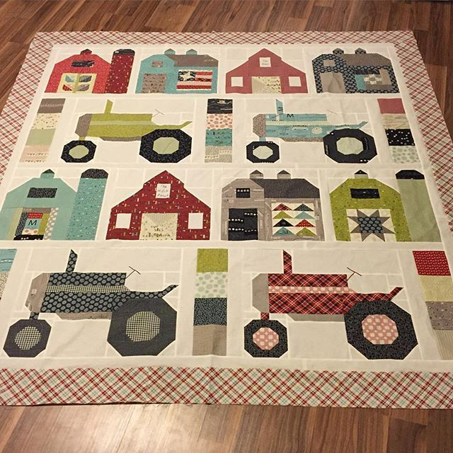 Vintage Farm Girl quilt block patterns