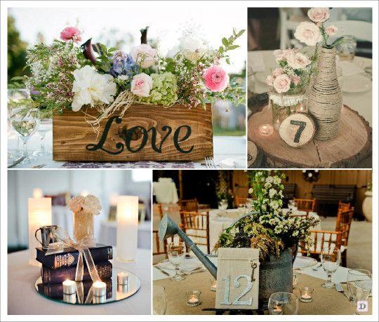 centre de table vintage retro caisse bois arrosoir miroir rondin bois corde sweet table