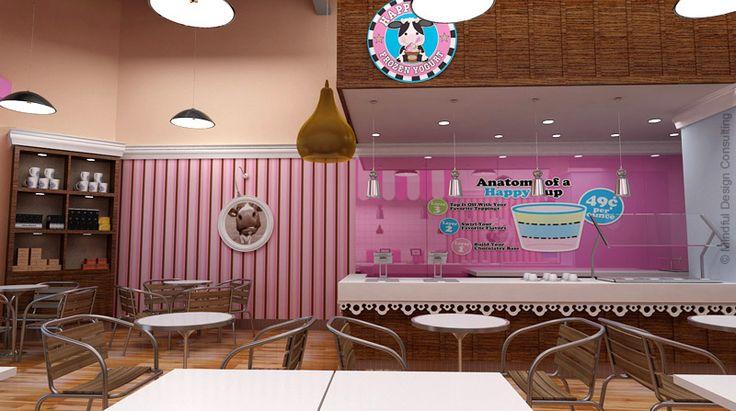 16 best frozen yogurt store interior design images on With interior decorators wesley chapel fl