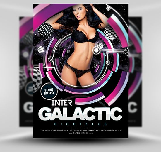 20 best flyers images on pinterest templates free club flyers inter galactic flyer template by flyerheroes is a free photoshop psd nightclub flyer template with royalty free creative commons license pronofoot35fo Choice Image