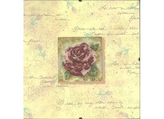 Completed Cross Stitch in Glass Rose Romance by dannileifer, $24.99