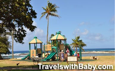 Ah, one of the best-located playgrounds on the island.