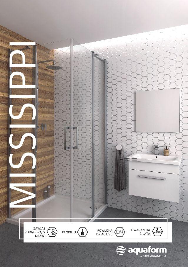 Propozycja dla wielbicieli uniwersalnych rozwiązań. Dyskretny design oraz wielość rozmiarów i wariantów konstrukcyjnych modelu Missisipi sprawia, że doskonale sprawdzi się on we wnętrzach o zróżnicowanym metrażu i charakterze. #Aquaform #Missisippi #kabina #prysznic #łazienka #bathroom #interior #wystrójwnętrz #trendy #design
