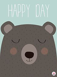 Happy Day Bear Poster