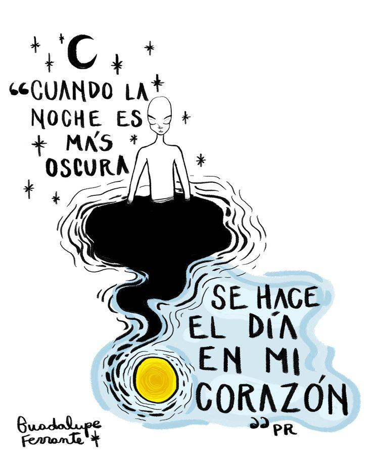 ilus. Guadalupe ferrante. Frase: Patricio Rey
