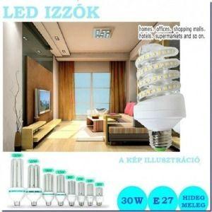LED izzó 30 w spirál cső E27 foglalattal - meleg/hideg fény