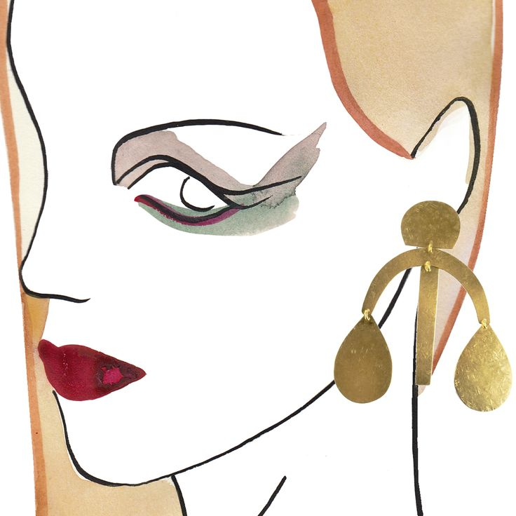 Annie Costello Brown Earrings #fashion #jewellery #earrings #accessories #valerydemure [discover more at www.valerydemure.com]