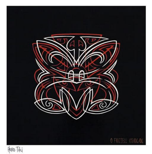 Pinstripe Hero Tiki by Otis Frizzell http://www.imagevault.co.nz/page/prints