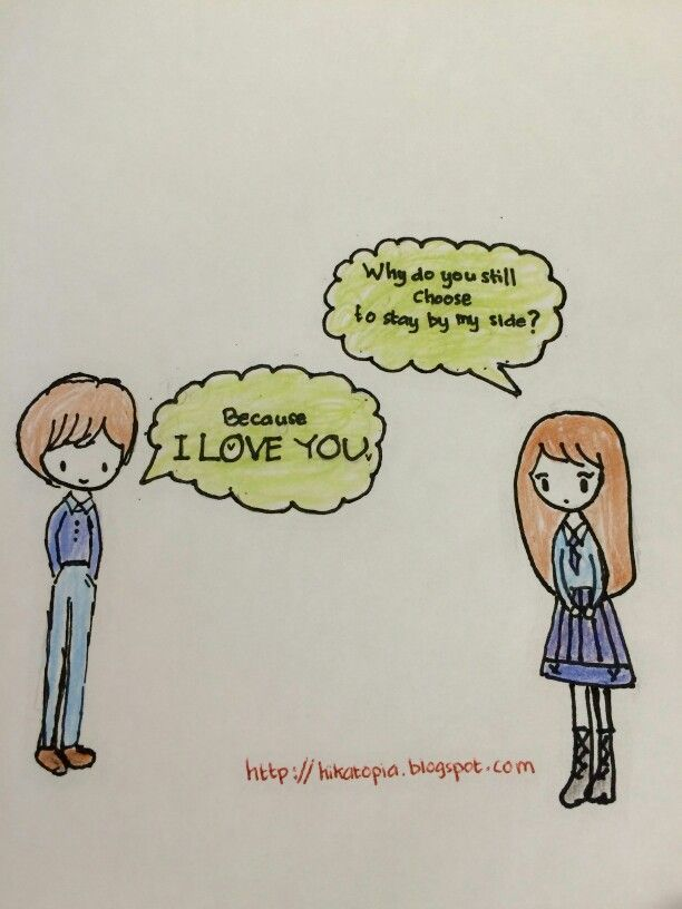 I love you. #love #couple #drawing