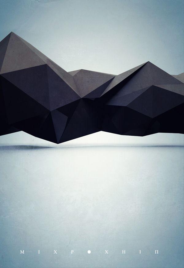 Polygons by Lisander Qorri, via Behance