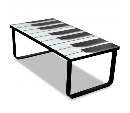 Soffbord i glas med piano tryckning