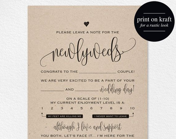 Wedding Mad Libs Mad Lib Printable Wedding by BlissPaperBoutique