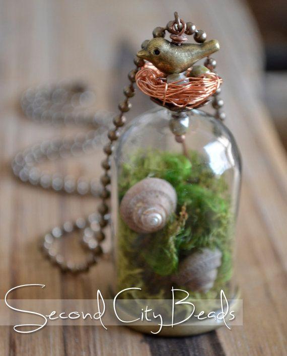 DIY Jewelry supplies Glass Tube pendant mini by SecondCityBeads, $4.00