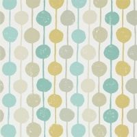 Scion Taimi wallpaper stripes and circles blue and yellow
